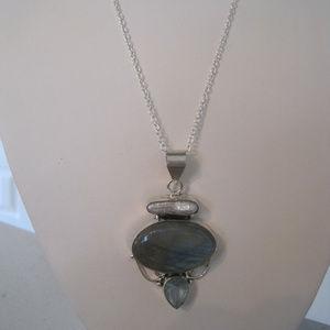 Jewelry - ARTISAN PEARL, LABRADORITE AND TOPAZ NECKLACE